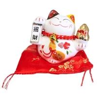 Chat Maneki Neko Prosperité Tirelire Céramique - 8 cm