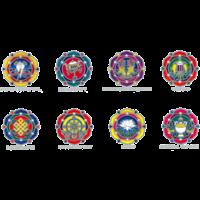 Attrape Soleil Sunstrip Symboles Auspicieux Bouddhistes