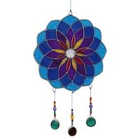 Attrape Soleil : Mandala - Bleu Avec Perles
