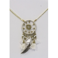Collier Dreamcatcher Blanc