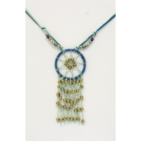 Collier Dreamcatcher Bleu Mixte