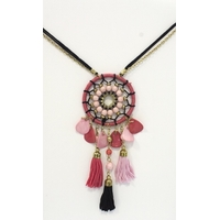 Collier Dreamcatcher Noir et Rose