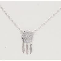 Collier Argent Mini Dreamcatcher