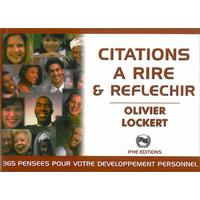 Citations à Rire et Réfléchir - Olivier Lockert