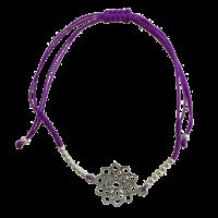 Bracelet Chakra Sahasrara Cordon Ajustable en Coton