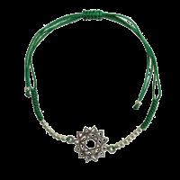 Bracelet Chakra Anahata Cordon Ajustable en Coton