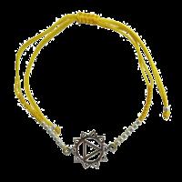 Bracelet Chakra Manipura Cordon Ajustable en Coton