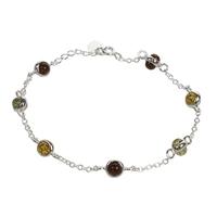 Bracelet Boules d'Ambre Multicolores