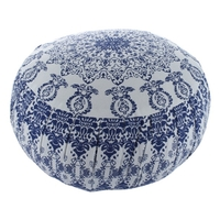 Zafu Moderne Mandala Bleu Blanc