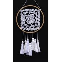 Dreamcatcher Crochet et Dentelle Mantra - 20 cm