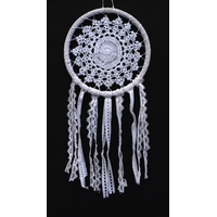 Dreamcatcher Crochet et Dentelle Ruby - 20 cm