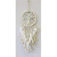Dreamcatcher Arbre de Vie avec Plume Métal 9 cm