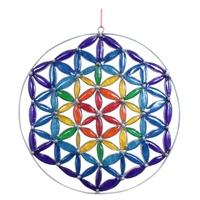 Attrape Soleil Fleur de Vie Multicolore 17,5 cm