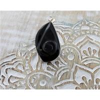 Pendentif Escargot - Obsidienne Oeil Celeste
