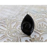 Pendentif Escargot - Obsidienne Dorée