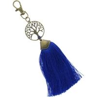 Porte Clés - Arbre de Vie - Pompon Bleu Roi