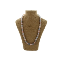 Collier Pierres Brutes - Morganite