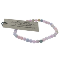 Bracelet Enfant Aquamarine Béryl Morganite 4 mm