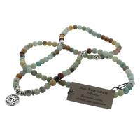 Mala en Amazonite - 108 Perles de 6 mm - Médaille Arbre de Vie