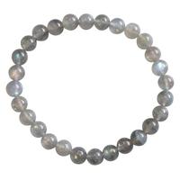 Bracelet Perles Rondes Labradorite 6 mm - Qualité Supérieure