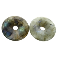 Pi Chinois Labradorite 3 cm Avec Cordon - Lot de 2