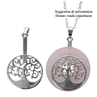 Porte Donut Finition Rhodium - Arbre de Vie - Lot de 2