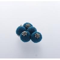 Pompon 20 mm Déco x 5 Bleu - Lot de 12