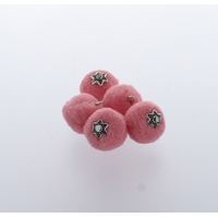 Pompon 20 mm Déco x 5 Rose - Lot de 12