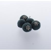 Pompon 20 mm Déco x 5 Vert Sauge - Lot de 12