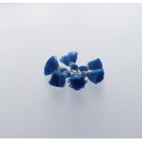 Pompon Fil 20 mm x 6 Bleu - Lot de 12