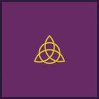 Tapis de Cartes Violet  Triquetra