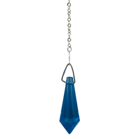 Pendule Cristal 16 Facettes Bleu Saphir