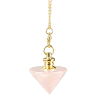Pendule Cône Quartz Rose