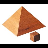 Pyramide de Khéops Plaqué Acajou - 11,5 cm