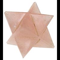 Etoile Merkaba Quartz Rose - 2 cm