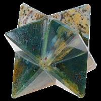 Etoile Merkaba Jaspe Fantaisie - 2 cm