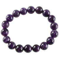 Bracelet Perles Rondes Améthyste 10 mm