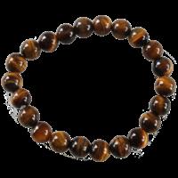 Bracelet Perles Rondes Oeil de Tigre 8 mm