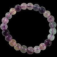 Bracelet Perles Rondes Fluorite 8 mm