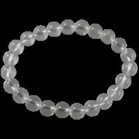 Bracelet Perles Rondes Cristal de Roche 8 mm