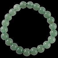 Bracelet Perles Rondes Aventurine Verte 8 mm