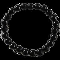 Bracelet Perles Rondes Onyx Noir 8 mm