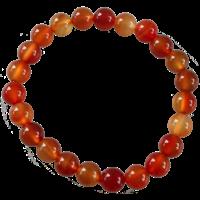 Bracelet Perles Rondes Cornaline 8 mm