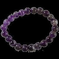 Bracelet Perles Rondes Améthyste 8 mm