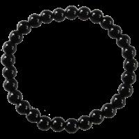 Bracelet Perles Rondes Onyx Noir 6 mm