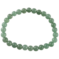 Bracelet Perles Rondes Aventurine Verte 6 mm