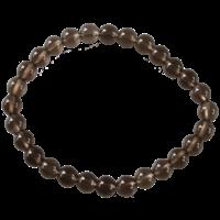 Bracelet Perles Rondes Quartz Fumé 6 mm