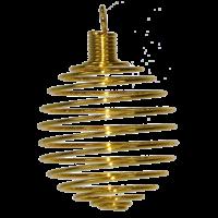 Spirale Dorée GM - Lot de 5