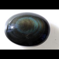 Galet Rond d'Obsidienne Arc-en-Ciel - Qualité AAA