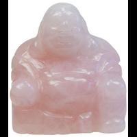 Bouddha Rieur Quartz Rose